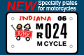Vanity plates for Indiana bikes