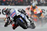 Lorenzo in the rain at Le Mans