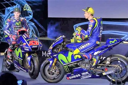 Vinales and Rossi promo shot