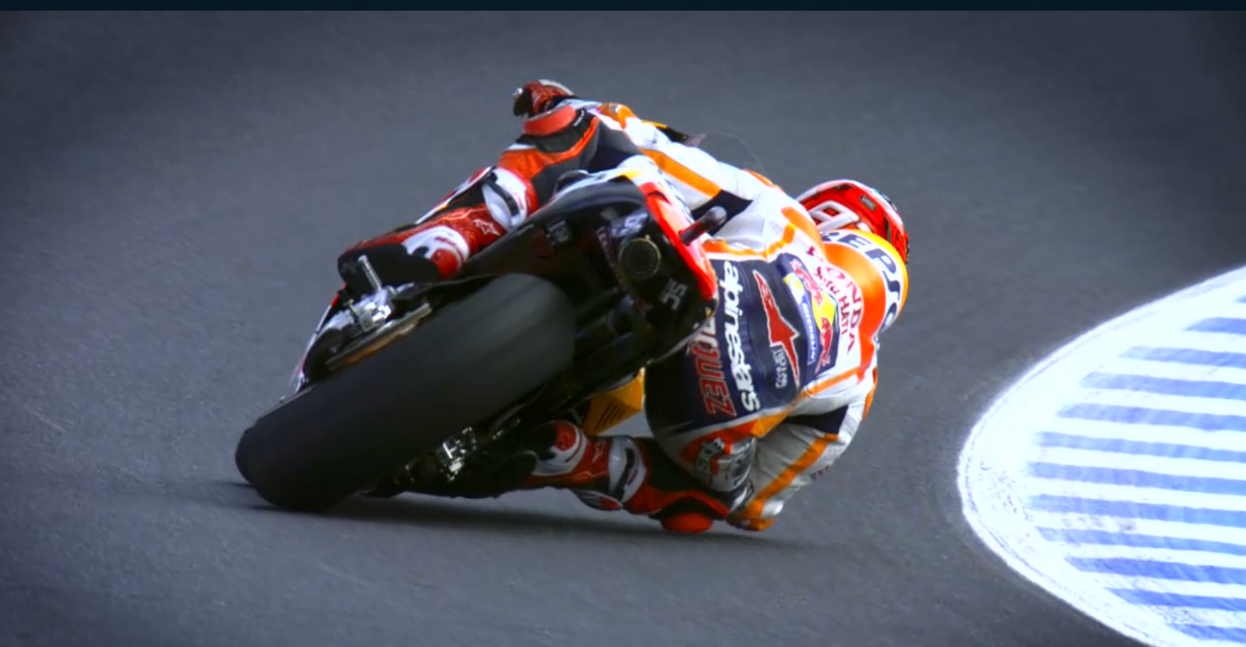 Marquez from behind