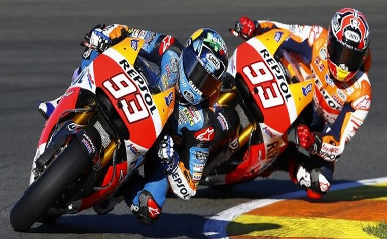 Marquez brothers exhibition spin 2013 at Valencia
